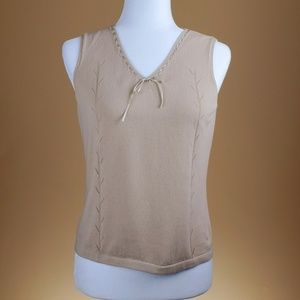 Liz Claiborne Sleeveless Cotton Top